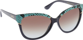 Jessica Simpson Women's J5337 Cateye Animal Print Sunglasses