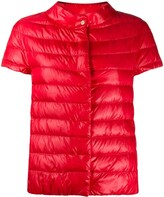 Herno short-sleeved padded jacket