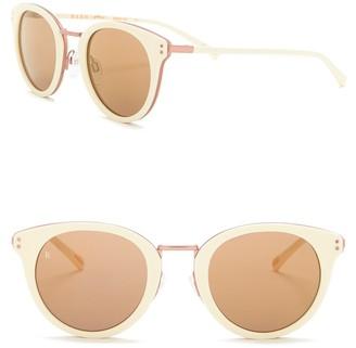 Raen Potrero 50mm Retro Round Sunglasses