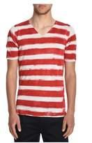 Roberto Collina Men's White/red Linen T-shirt.