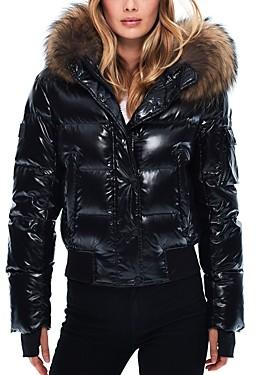 SAM. Skyler Fur Trim Short Down Coat
