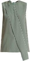 Joseph Noon asymmetric striped sleeveless top