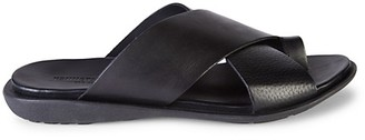 Kenneth Cole New York Toe-Ring Leather Slides
