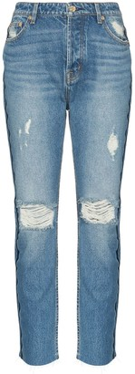 P.E Nation 1993 Distressed Straight-Leg Jeans
