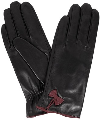Karla Hanson Women's Leather Touch Screen Gloves with Bow