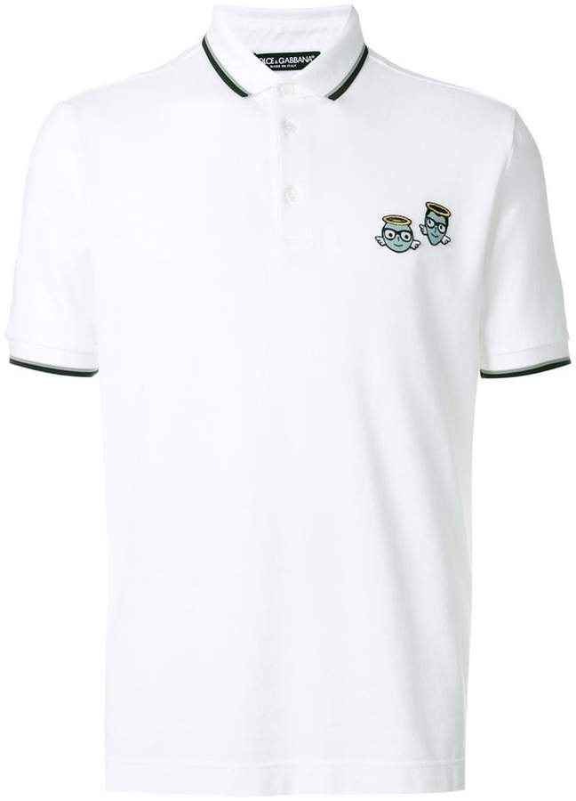 Dolce & Gabbana designers patch polo shirt