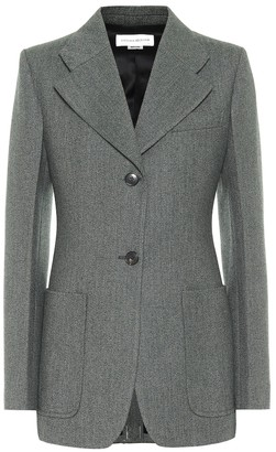 Victoria Beckham Melange wool single-breasted blazer