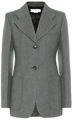 Victoria Beckham Melange wool single-breasted blazer