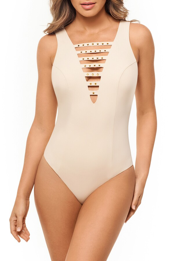 Amoressa Romancing the Stone One-Piece Swimsuit