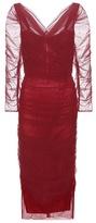 Dolce & Gabbana Tulle cotton-blend dress