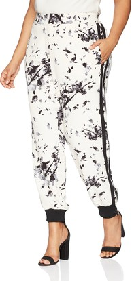 Rachel Roy Women's Plus Size Printed Jogger