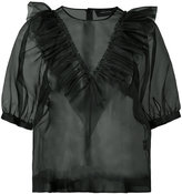 Simone Rocha transparent ruffle blouse