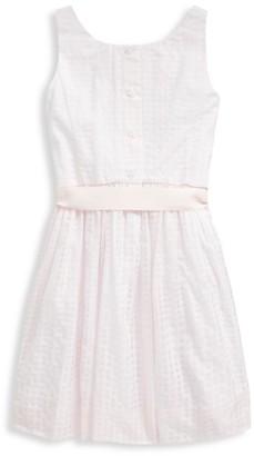 Ralph Lauren Little Girl's & Girl's Check Tie-Sash Flare Dress