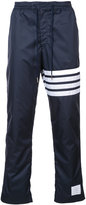 Thom Browne stripe detail straight leg trousers - men - Polyester/Cotton - 2