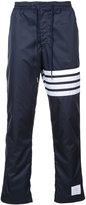 Thom Browne stripe detail straight leg trousers