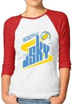 Rong T-shirts Women's ELENA DELLE DONNE CHICAGO SKY WNBA MVP Raglan Baseball T-Shirt