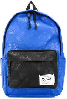 Herschel contrast zipped pocket backpack