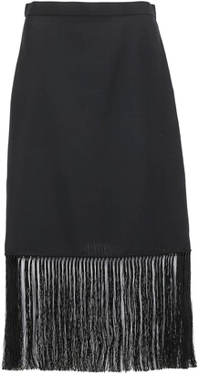 Burberry Fringed A-Line Skirt