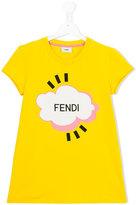 Fendi logo print T-shirt - kids - Cotton/Spandex/Elastane - 14 yrs