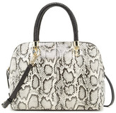 Cole Haan Benson Large Snake-Embossed Leather Dome Satchel