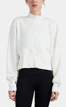 Vaara Women's Back-Zip Cotton-Blend Mock Turtleneck Sweatshirt - White