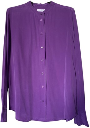 Equipment Purple Silk Top for Women