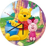 Disney Winnie The Pooh And Piglet Honey Wall Clock