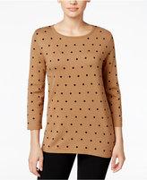 Karen Scott Polka-Dot Sweater, Only at Macy's
