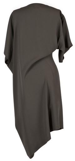 Jean Paul Gaultier Asymmetric Olive Jersey Dress