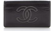 Chanel Black Lambskin Leather CC Stitch Bifold Wallet