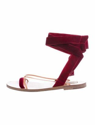 Valentino T-Strap Sandals Brown