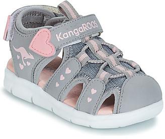 KangaROOS K-MINI girls's Sandals in Grey