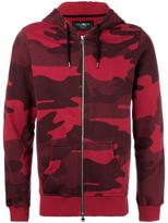 Hydrogen camouflage print zipped hoodie