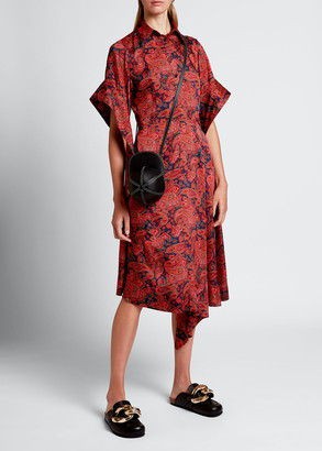 J.W.Anderson Paisley Draped-Sleeve Shirtdress