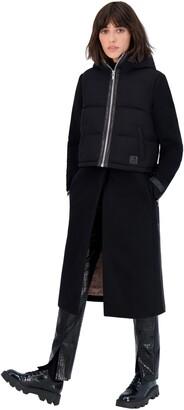 Moose Knuckles Ranleigh Mac Wool Coat & Nylon Puffer Vest Set