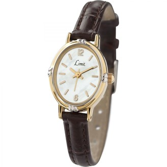 Limit Women's Quartz Watch with White Dial Analogue Display and Black PU Strap 6980.35