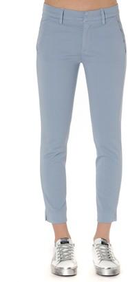Dondup Slim Pants In Light Blue Cotton