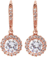 Kenneth Jay Lane CZ by Rose Golden Cubic Zirconia Round Drop Earrings