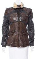 Belstaff Contrasted Leather Coat