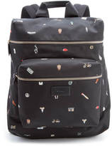 Paul Smith Cufflink Print Nylon Rucksack Black