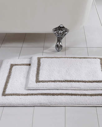 Allure 2-Pack Reversible Contrast Stripe Bath Mat Set