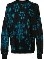 Baja East abstract print sweater