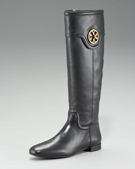 Tory Burch Selma Logo Flat Knee Boot