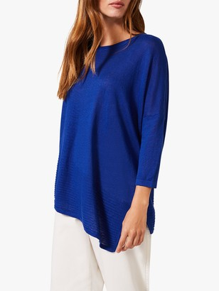 Phase Eight Angelica Ribbed Knit Top, Cobalt