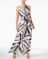 Vince Camuto Printed Halter Maxi Dress