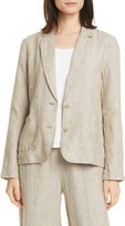 Eileen Fisher Shaped Organic Linen Blazer