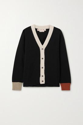 Marni Color-block Cashmere Cardigan - Black