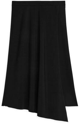 Arket Asymmetric A-line Midi Skirt