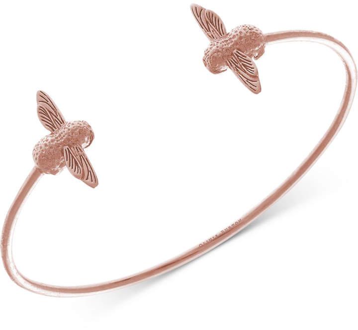 Olivia Burton Bee Three-Dimensional Cuff Bracelet in 18k Rose Gold-Plate