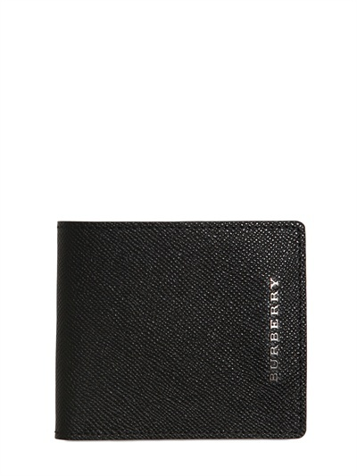 Burberry Metal Logo Leather Wallet